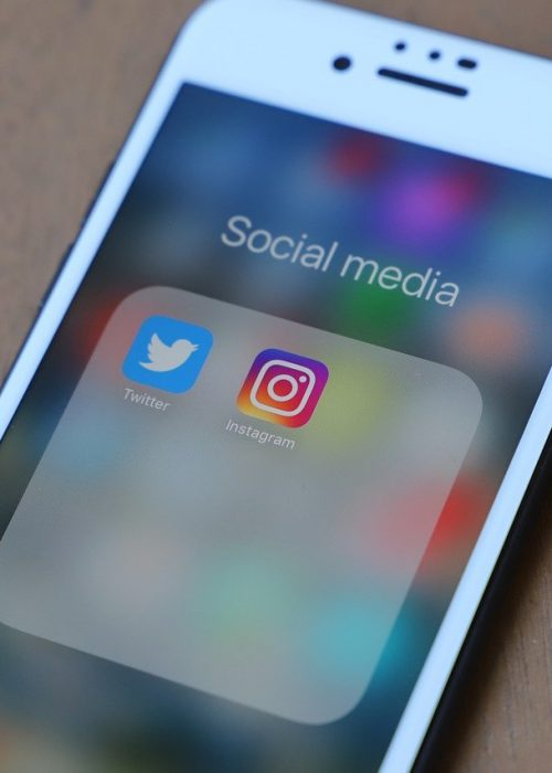 Iphone with social media