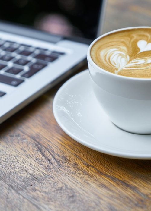 Laptop and a coffee