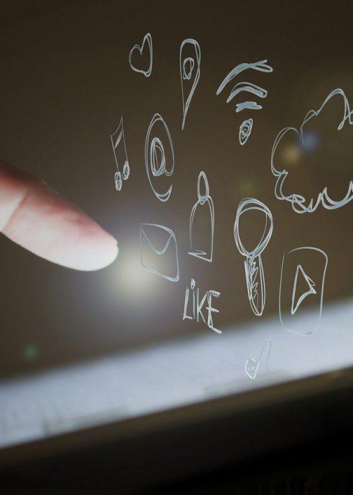 Social media touche screen